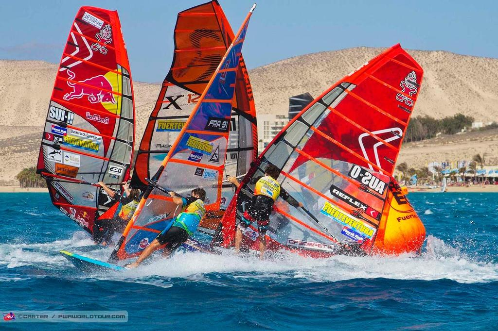 Mark two pile up - 2014 PWA Fuerteventura Grand Slam ©  Carter/pwaworldtour.com http://www.pwaworldtour.com/