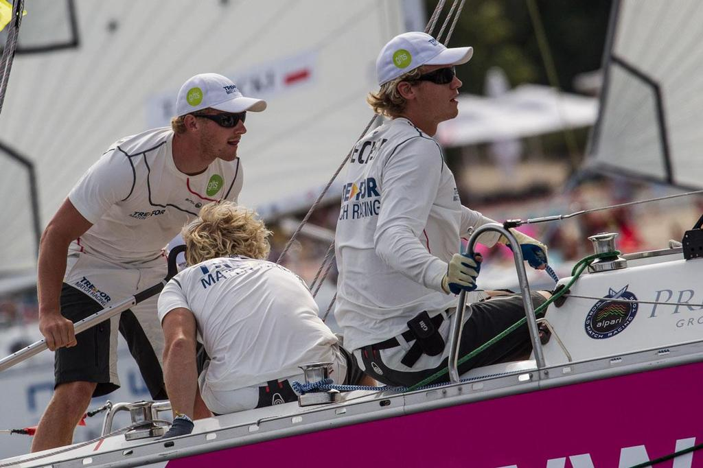 Nicolao Sehested and his team were on form today at Sopot Match Race ©  Robert Hajduk / WMRT