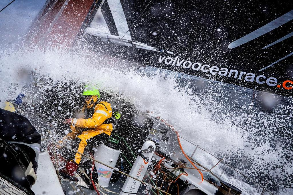 August 12, 2014. Round Britain Island Race Day 2 - OBR content Team Alvimedica: During the RORC's Round Britain and Ireland Race. ©  Amory Ross / Team Alvimedica