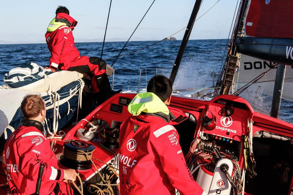 Dongfeng Race Team during the Round Britain and Ireland race. © Yann Riou / Dongfeng Race Team