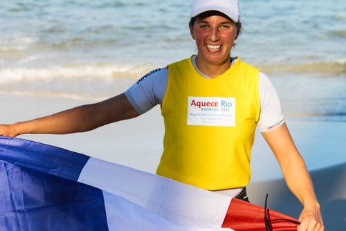 Charline Picon (FRA). Rio 2014 Test Event - Aquece Rio Day five. Aquece Rio – International Sailing Regatta 2014  © ISAF