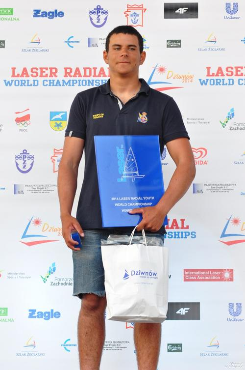 Laser Radial Boys World Champion 2014 Joel Rodriguez ESP © Jeff Martin