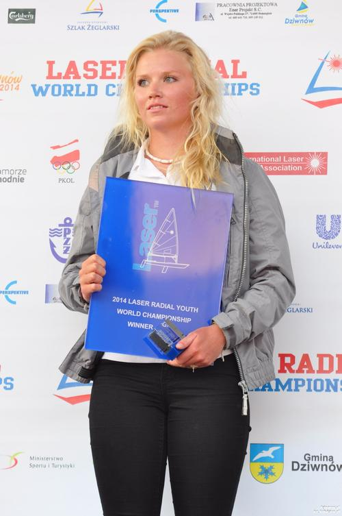Laser Radial Girls World Champion 2014 Monika Mikkola FIN © Jeff Martin