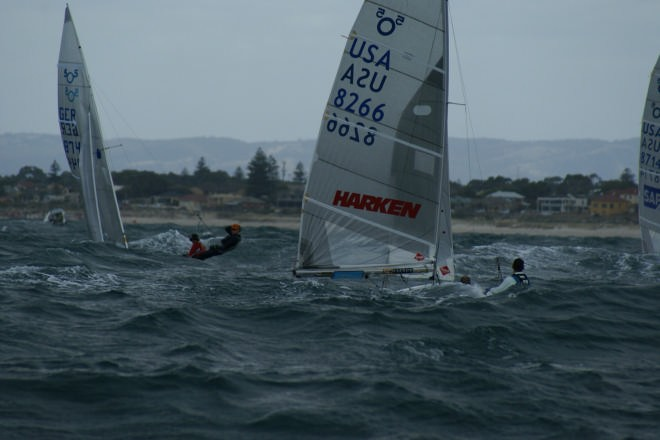 505 Worlds Day 1, Race1 © Sail-World.com /AUS http://www.sail-world.com