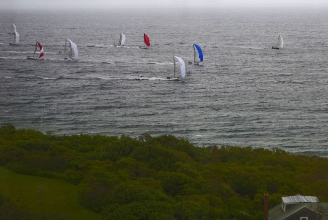 Fleet charging along the shore - Block Island Race Week ©  Rolex / Dan Nerney