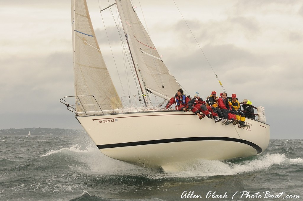 Loki 3 shows us her keel - Block Island Race Week © Allen Clark http://www.photoboat.com