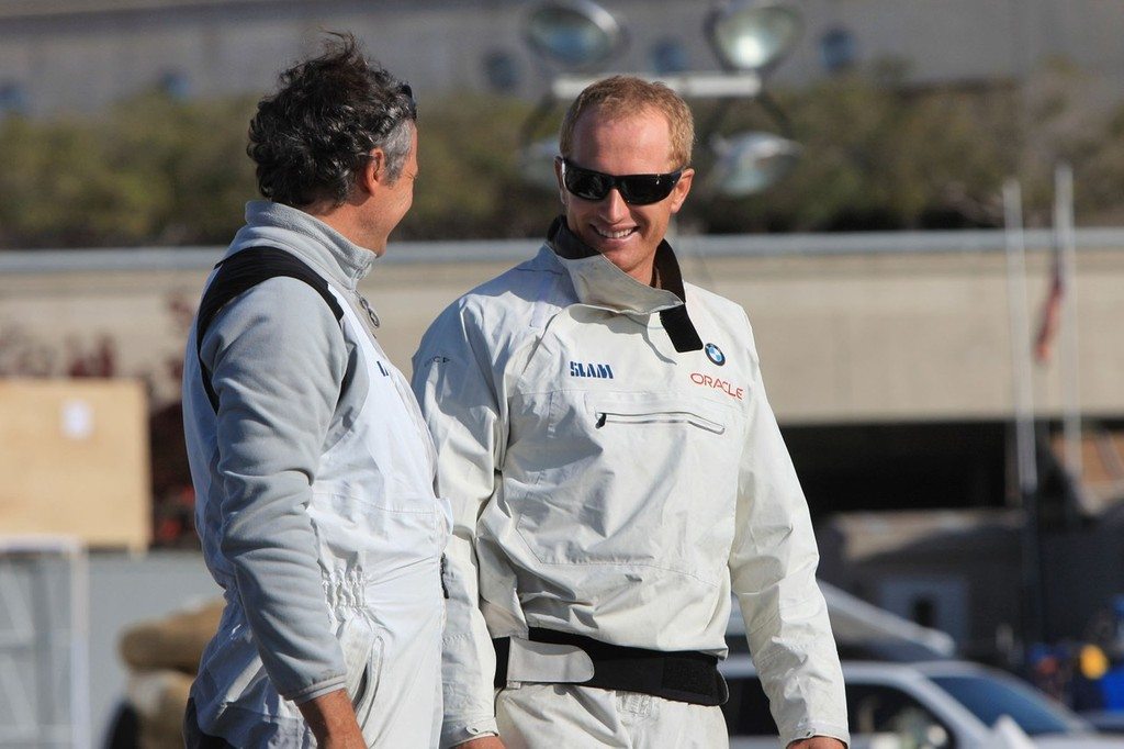 helmsman James Spithill (right) © BMW Oracle Racing Photo Gilles Martin-Raget http://www.bmworacleracing.com