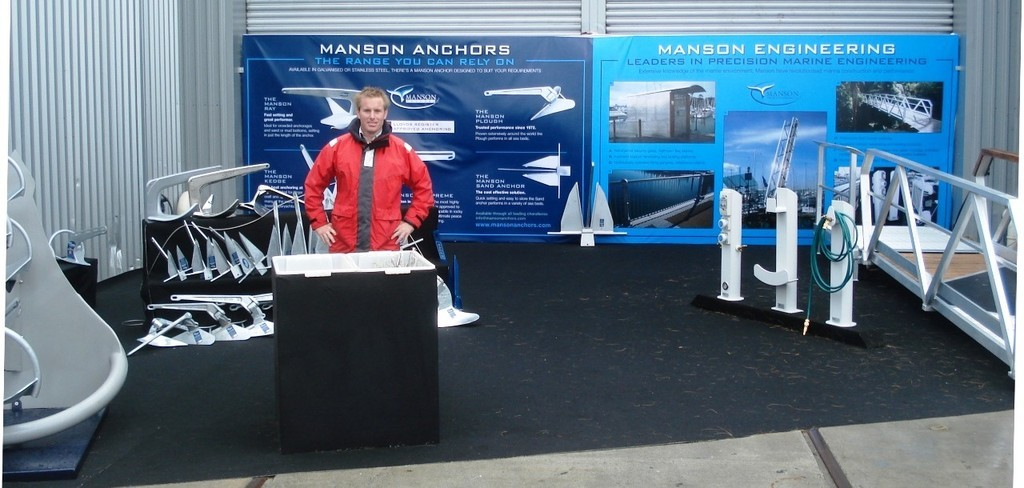 Ned Wood, Manson Anchors - at the Auckland International Boat Show © Colin Preston