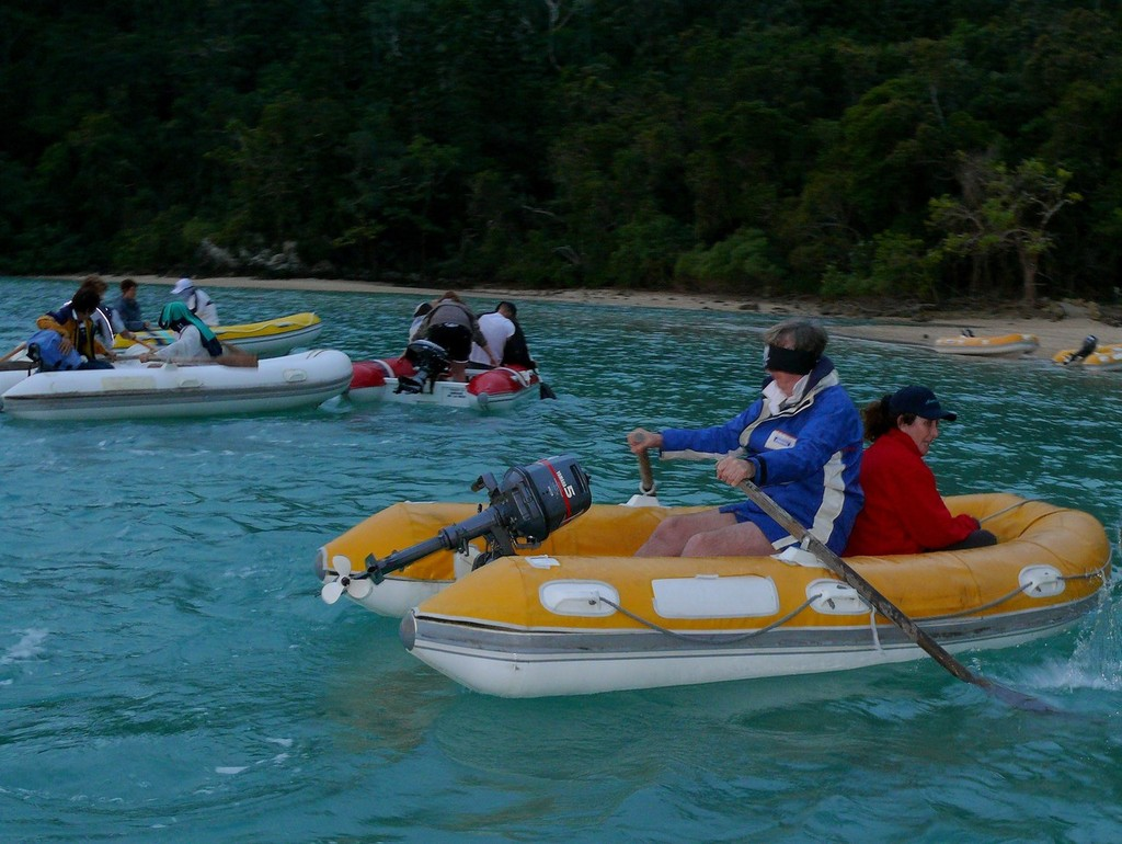 The very popular Blind Man's Dinghy Race - Seawind Whitsunday Rally 2010 © Channel Whitsundays