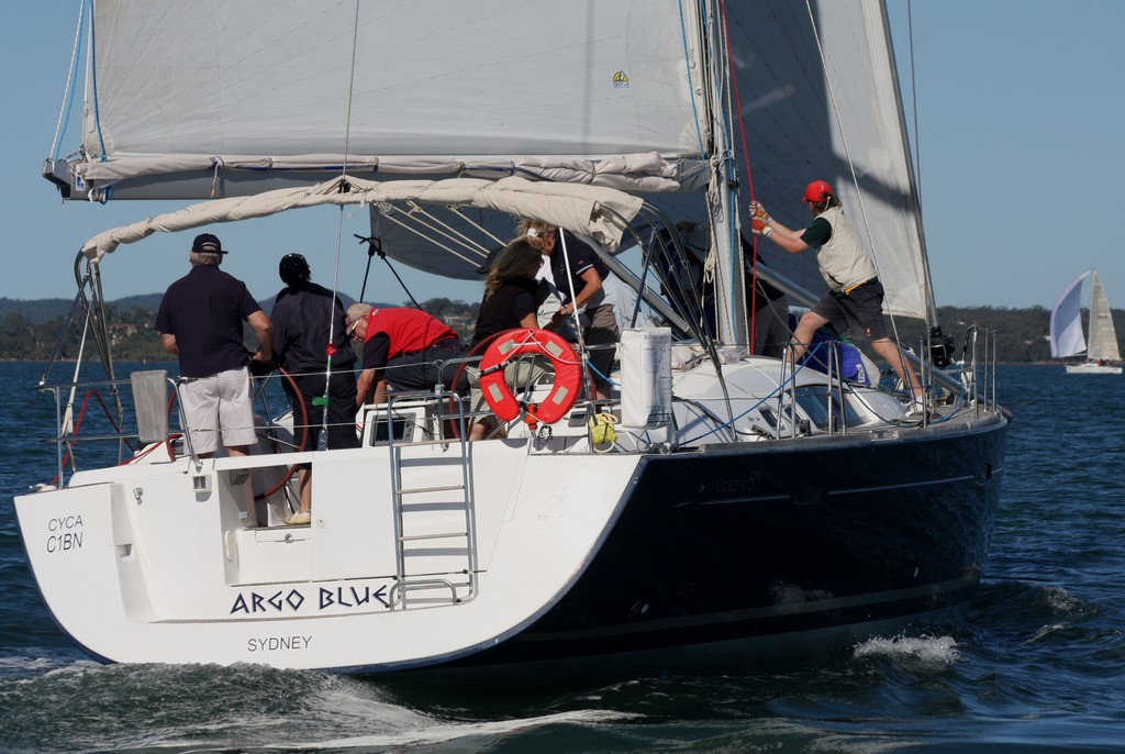 Sail change on Argo Blue. Commodore's Cup Day 3 Sail Port Stephens 2011 © Sail Port Stephens Event Media