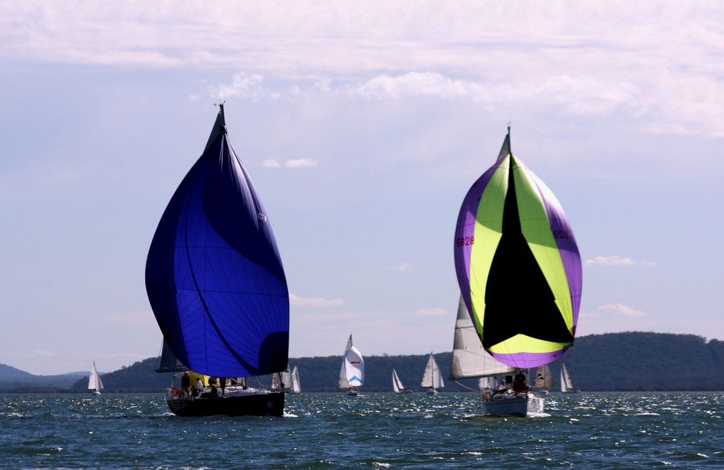 Spinnakers on a glorious afternoon. Commodore's Cup Day 3 Sail Port Stephens 2011 © Sail Port Stephens Event Media