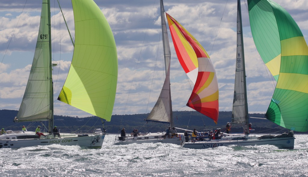 Spinnakers Commodore's Cup day 2 Sail Port Stephens 2011  <br />  &copy; Sail Port Stephens Event Media