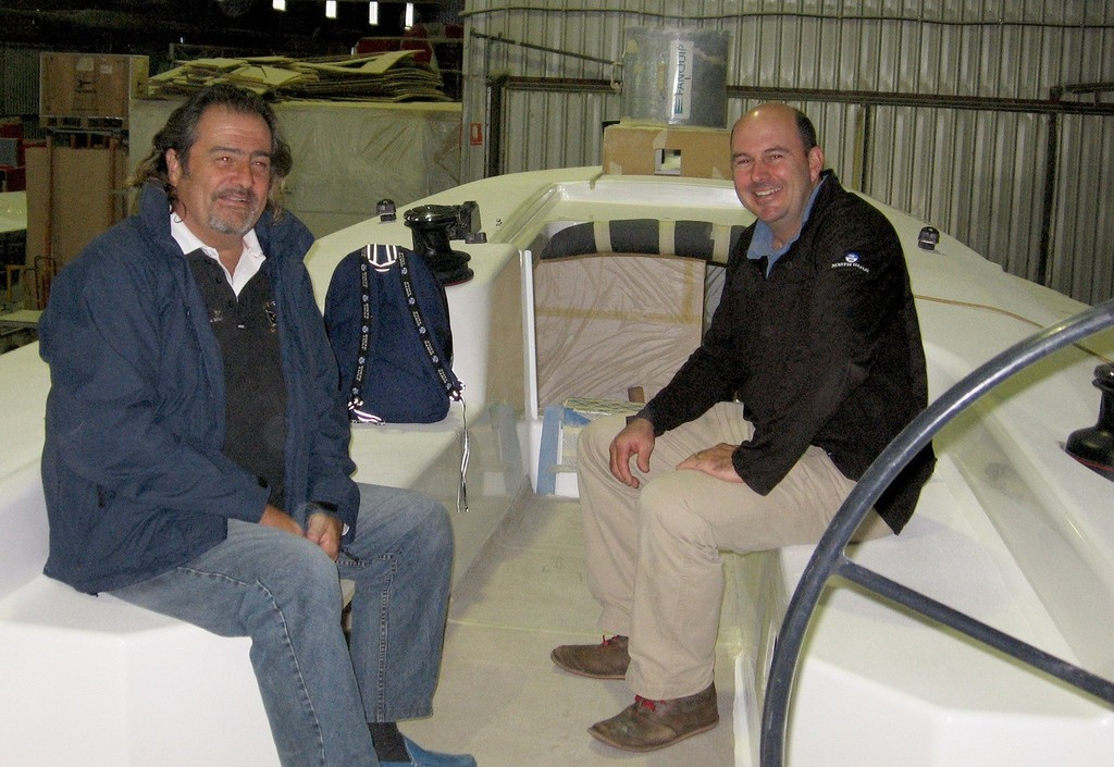 Proud owner, Warwick Sherman, with Norths Sails' Ritchie Allanson aboard the GTS 43 - GTS 43 © Sydney Yachts . http://www.sydneyyachts.com