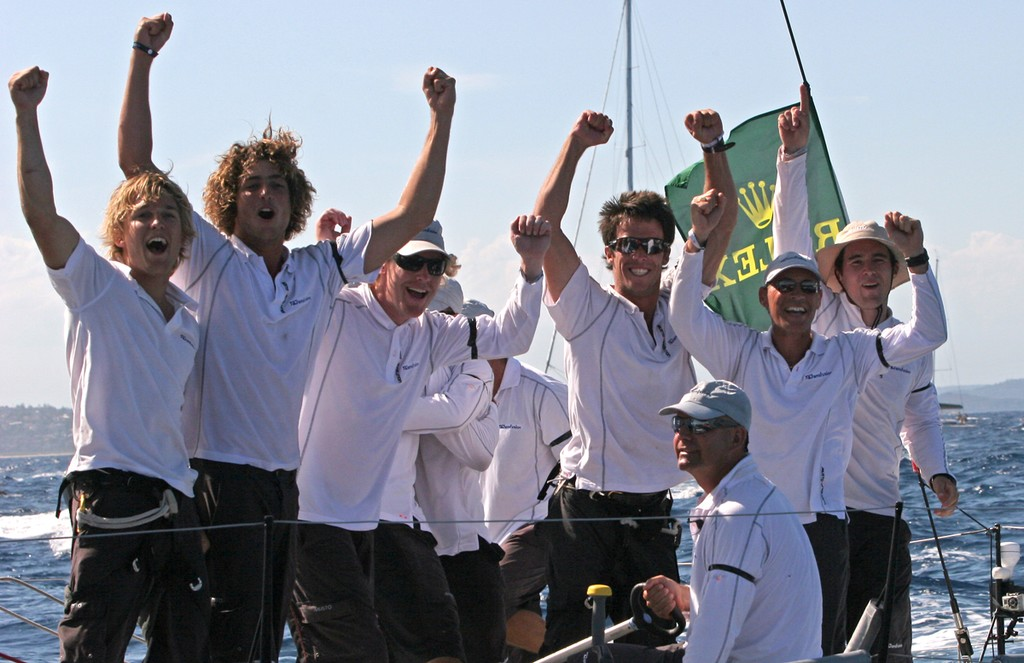 We are the champions! Transfusion's crew moments after their victory - Rolex Farr 40 World Championships © Crosbie Lorimer http://www.crosbielorimer.com