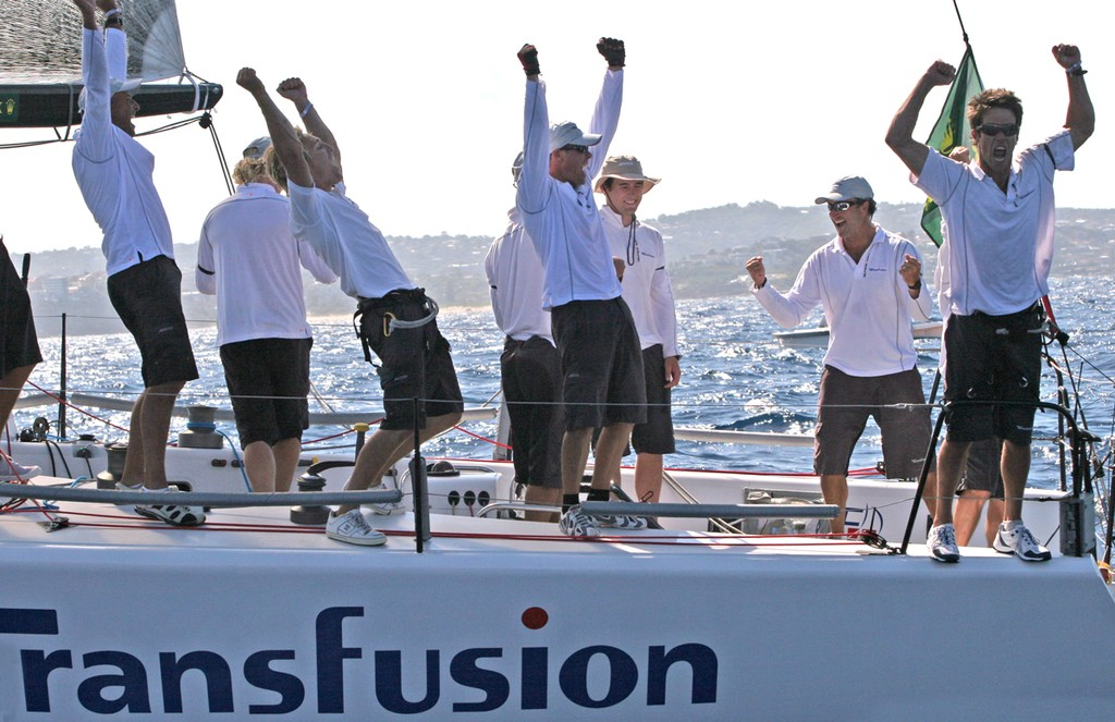 Yeahhh! Transfusion's crew celebrate their win - Rolex Farr 40 World Championships © Crosbie Lorimer http://www.crosbielorimer.com