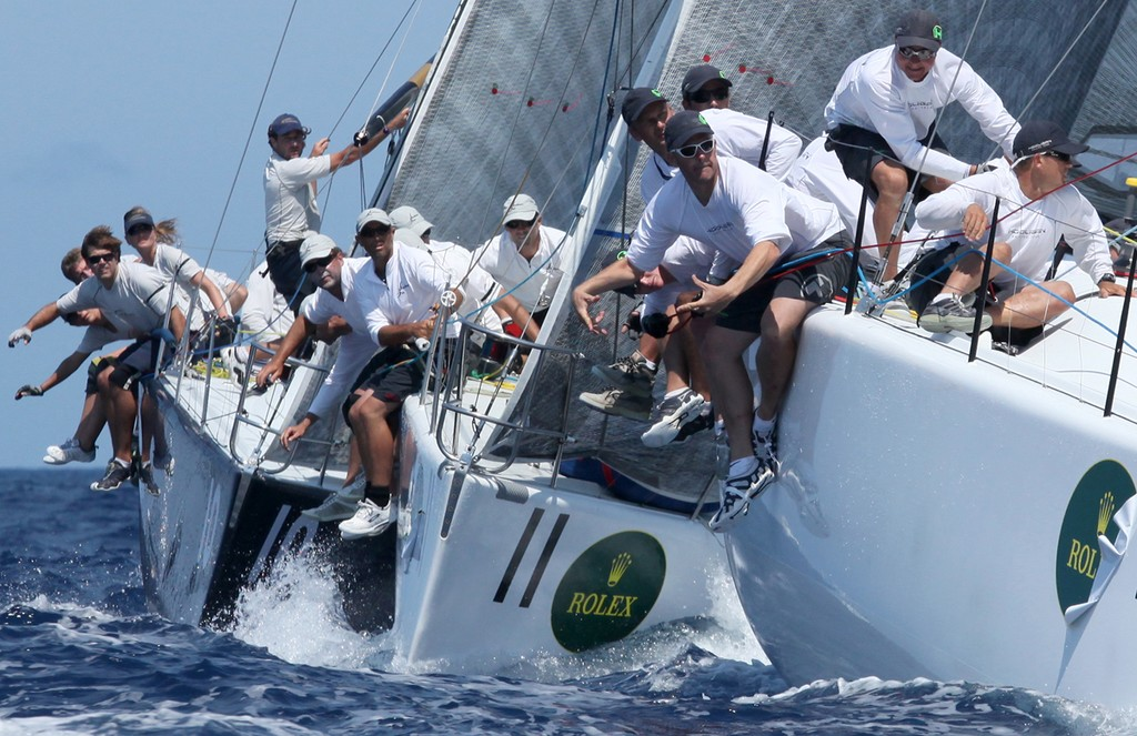 The Australian 'old guard' of Hooligan, Southern Star and Kokomo round the top mark - Rolex Farr 40 World Championships © Crosbie Lorimer http://www.crosbielorimer.com