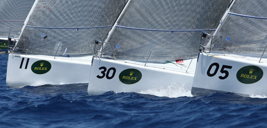 Bows at the start - Rolex Farr 40 World Championships © Crosbie Lorimer http://www.crosbielorimer.com