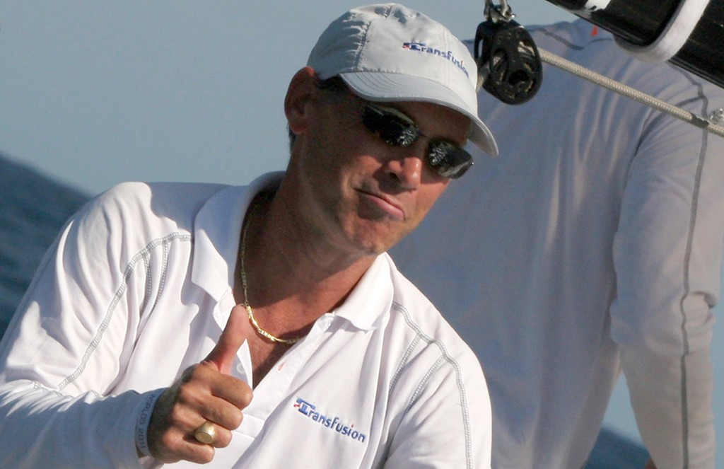 Transfusion's skipper Guido Belgiorno-Nettis, a happy man gets his revenge for last year's final day loss to Nerone - Rolex Farr 40 World Championships © Crosbie Lorimer http://www.crosbielorimer.com