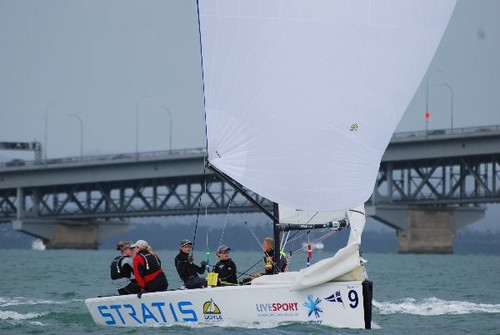 Team Powrie in action at the NZ Womens Match Racing Nationals. © SW