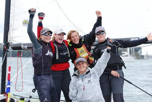 The winning team - at the NZ Womens Match Racing Nationals © SW