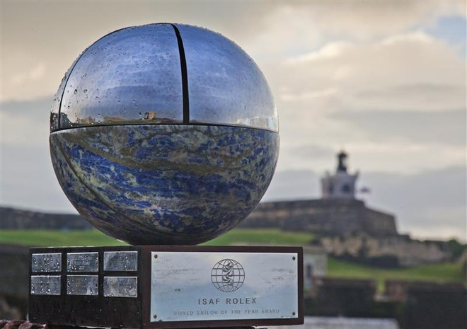 ISAF Rolex World Sailor of the Year Trophy at the Fort San Felipe del Morro, San Juan ©  Rolex/Daniel Forster http://www.regattanews.com