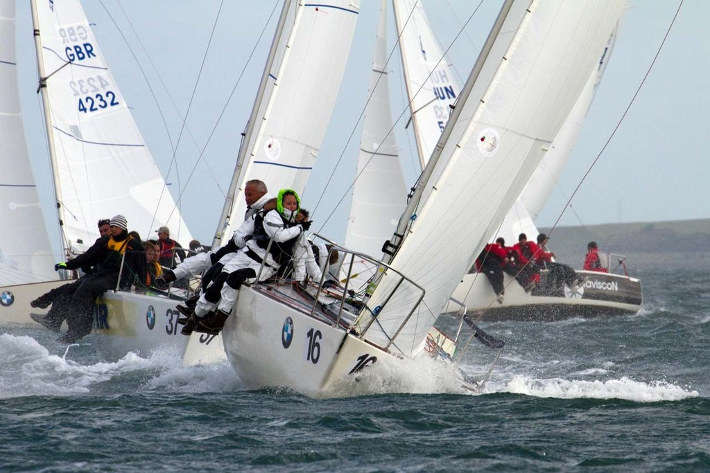 The crew of 'Madeleine' (GBR 4245) from Parkstone YC in the UK competing in the first race of the BMW J24 European Championships 2011 off Howth. - BMW J/24 European Championships 2011 © Gareth Craig (Fotosail)