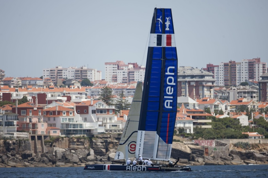 Aleph - - America's Cup World Series, Cascais, 3 August 2011 © ACEA - Photo Gilles Martin-Raget http://photo.americascup.com/
