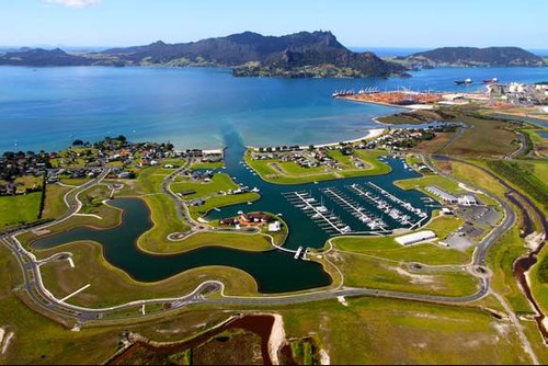Marsden Cove marine residential resort will be the base for Oracle Racing from 1 February to April 2013 © SW