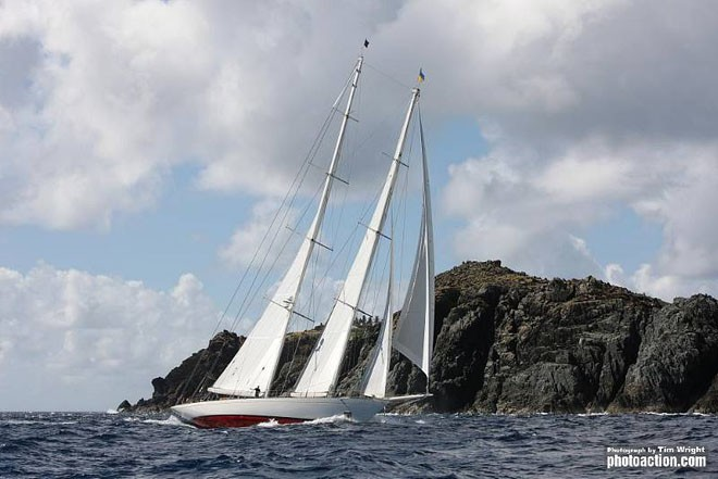 The beautiful Dijkstra schooner Adela were awarded the Spirit of Tradition Trophy donated by Antigua Classics and the Superyacht Trophy & North Sails barrel of English Harbour Rum. ©  Tim Wright / Photoaction.com http://www.photoaction.com