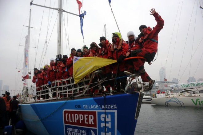 De Lage Landen crew in Qingdao ahead of Race 9 start to Oakland, San Francisco Bay  - Clipper 11-12 Round the World Yacht Race © onEdition http://www.onEdition.com