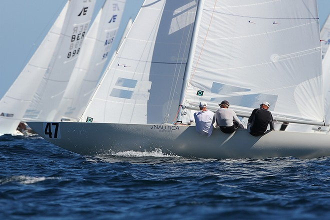 Etchells World Championship Sydney Australia 2012.   Graeme Taylor on Magpie scoring a third in race eight. © Ingrid Abery http://www.ingridabery.com