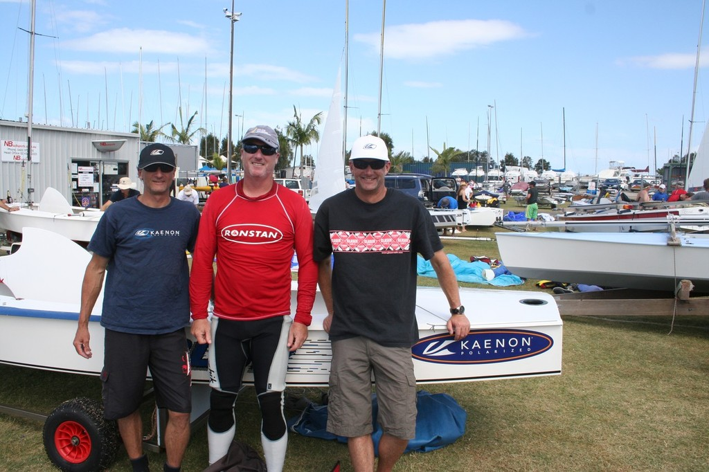 Blur Crew from left Sam Sanderson, Andrew Chisholm and Malcolm Higgins - Sharpie National Championship 2012 © Chris Murray