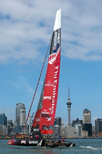 Emirates Team NZ training with the extended wingsail © Chris Cameron/ETNZ http://www.chriscameron.co.nz