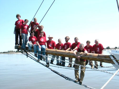 A past crew - what an opportunity crewing on a tall ship offers! ©  SW