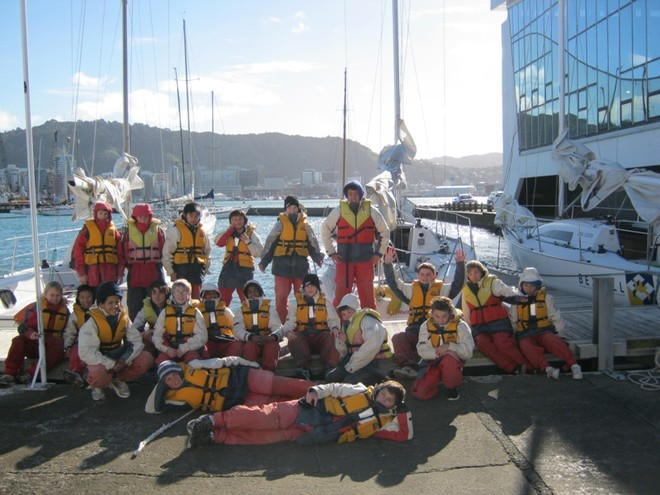 Ready to go Sailing - School Children enjoy Wellington Harbour © Wellington Ocean Sports Centre