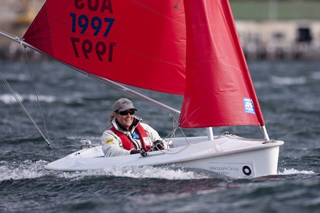 Andrea Oliver (AUS) enjoying the conditions - Macquarie Access World Championships 2012 ©  Andrea Francolini Photography http://www.afrancolini.com/
