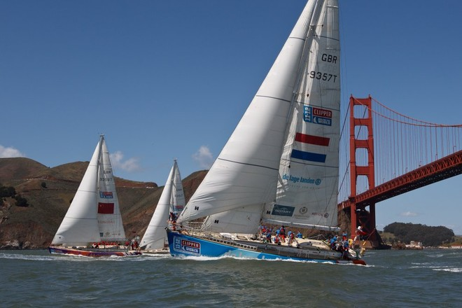 De Lage Landen - The Clipper Race fleet left Jack London Square in Oakland on 14 April to start Race 10, to Panama - Clipper 11-12 Round the World Yacht Race  © Abner Kingman/onEdition