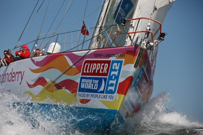 Derry Londonderry - The Clipper Race fleet left Jack London Square in Oakland on 14 April to start Race 10, to Panama - Clipper 11-12 Round the World Yacht Race  © Abner Kingman/onEdition