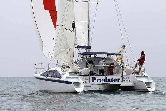 Predator heads out for the Passage Race. - Sail Mooloolaba 2012 © Teri Dodds http://www.teridodds.com