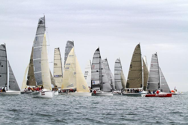 Finally the Sports Boats get started, but not for long.. - Sail Mooloolaba 2012 © Teri Dodds http://www.teridodds.com