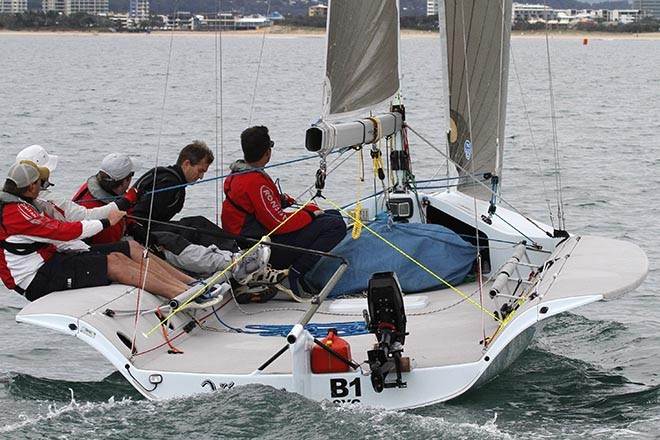 Ben Leigh-Smith's Vivace was hot on the heels of Raptor - Sail Mooloolaba 2012 © Teri Dodds http://www.teridodds.com