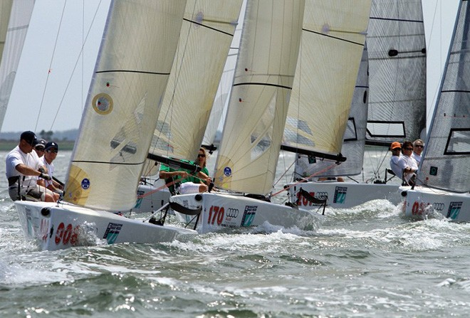 Audi Melges 20 Fleet at Sperry Top-Sider Charleston Race Week ©  2012 JOY