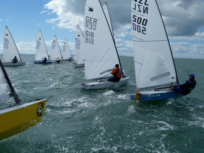 Start Race 2 Day1 - 2012 OK Interdominions and NZ Nationals, Wakatere BC April 2012 © NZ OK Dinghy Assoc