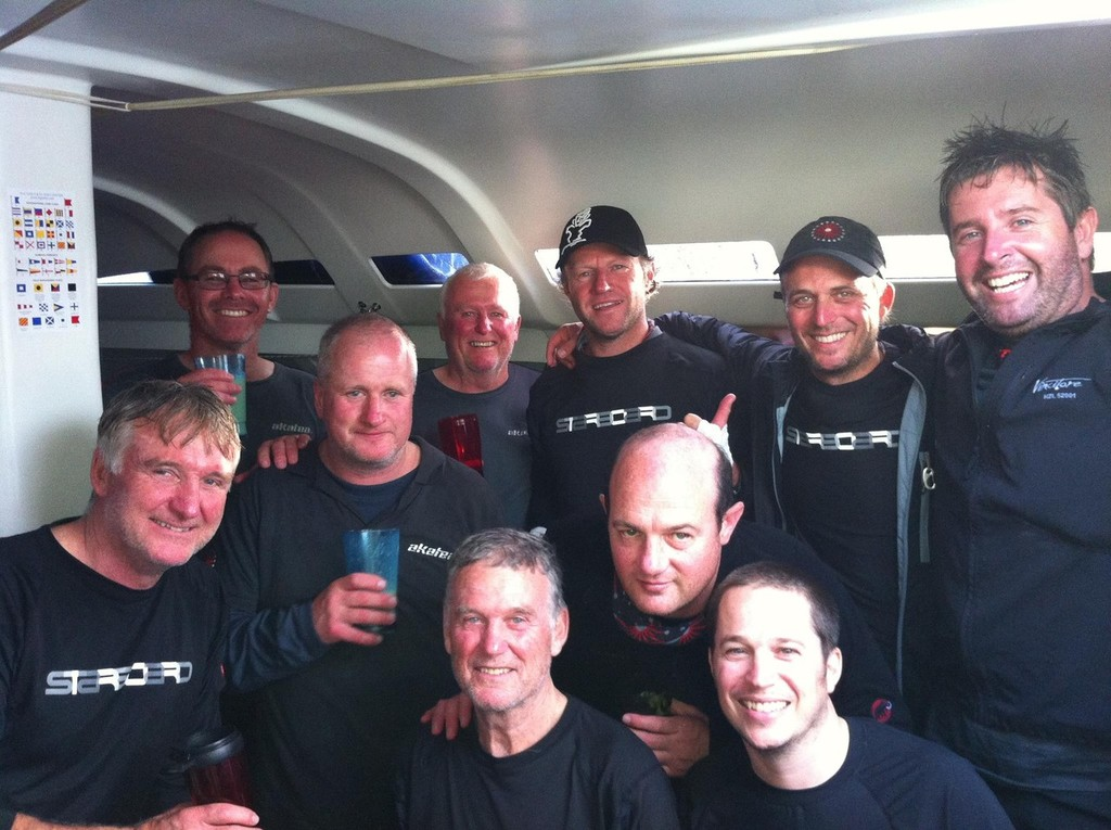 The crew of Akatea - second monohull to finish © Sail Noumea 2012 http://www.sailnoumea.com/