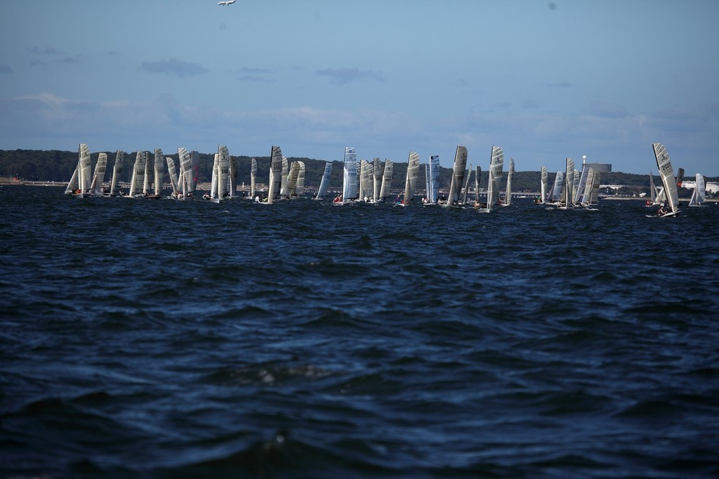 74 Boats on Botany Bay - 2012 NS14 NSW State Championship © Michael Chittenden