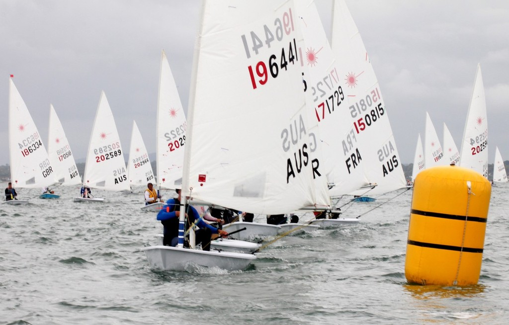 Laser Grand Masters at top mark - the final day © Laser Masters Worlds Media 2012 http://www.lasersailing.com.au