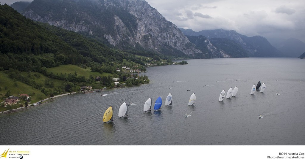 The RC44 fleet on Lake Traunsee © MartinezStudio.es http://www.rc44.com