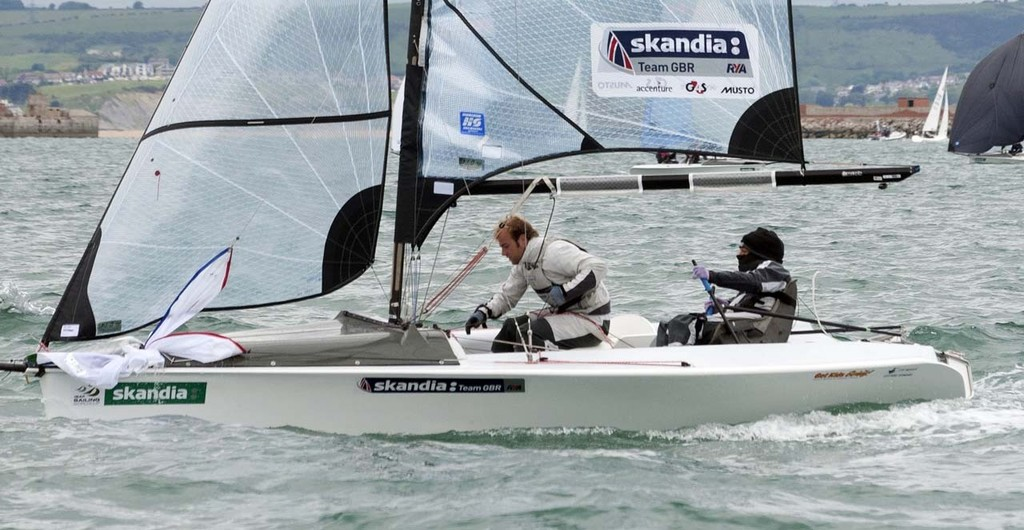 Alexandera Rickham and Niki Birrell, (GBR) racing in the Skud class on the day 1 of the Skandia Sail for Gold Regatta © onEdition http://www.onEdition.com