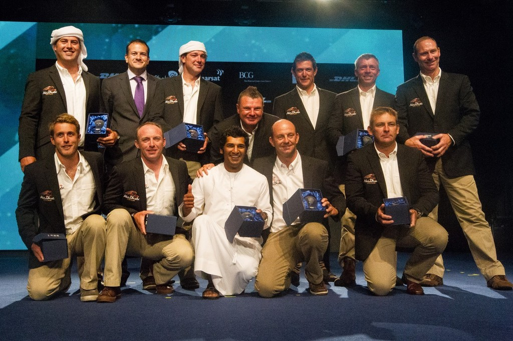Abu Dhabi Ocean Racing, skippered by Ian Walker from the UK, are awarded fifth place for the Volvo Ocean Race 2011-12, at the Prize Giving Ceremony in Galway, Ireland., during the Volvo Ocean Race 2011-12.  © Ian Roman/Volvo Ocean Race http://www.volvooceanrace.com