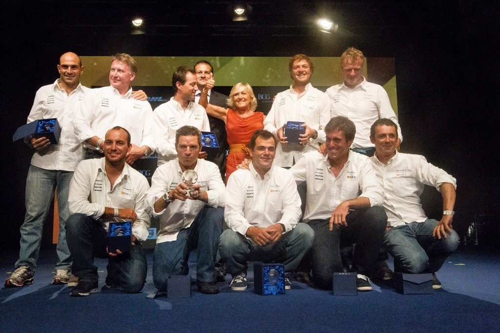 Team Telefonica, skippered by Iker Martinez from Spain, are awarded fourth place for the Volvo Ocean Race 2011-12, at the Prize Giving Ceremony in Galway, Ireland, during the Volvo Ocean Race 2011-12.  © Ian Roman/Volvo Ocean Race http://www.volvooceanrace.com